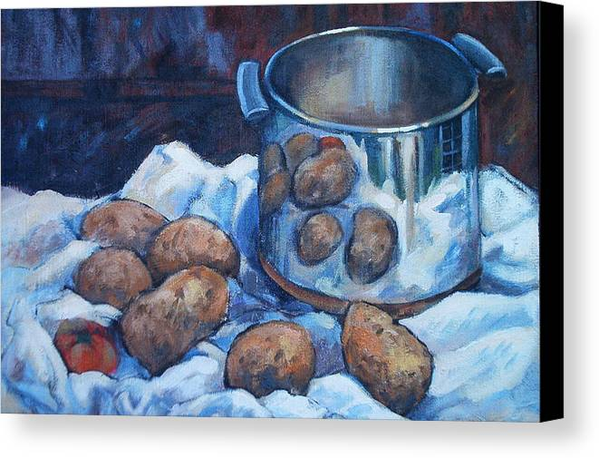 Still Life Canvas Print featuring the painting  Pomme De Terre by Dianna Willman