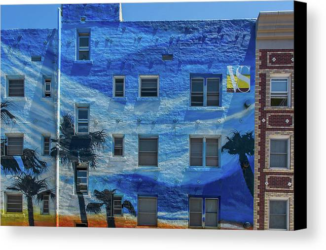 Venice Canvas Print featuring the photograph 0691- Murral by David Lange