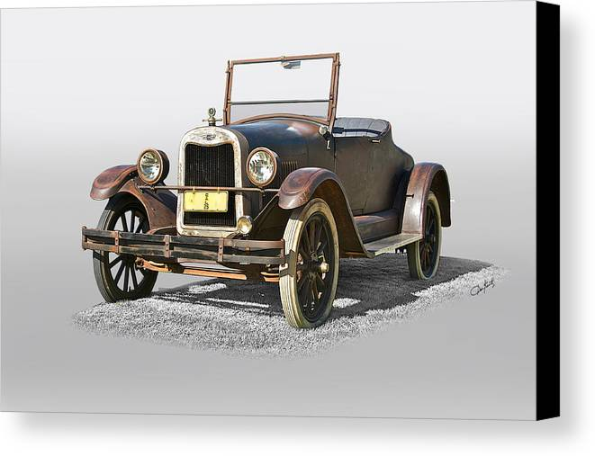 Auto Canvas Print featuring the photograph 1925 Chevrolet Series K Roadster by Dave Koontz