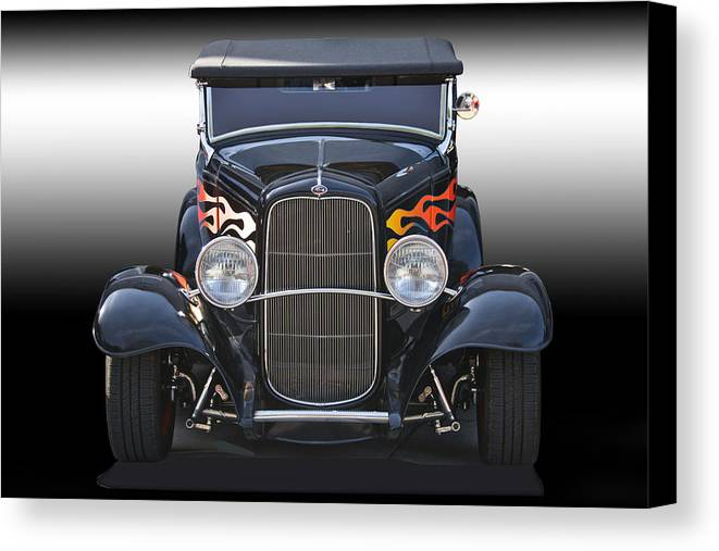 Auto Canvas Print featuring the photograph 1932 Ford 'traditional' Hot Rod Roadster by Dave Koontz