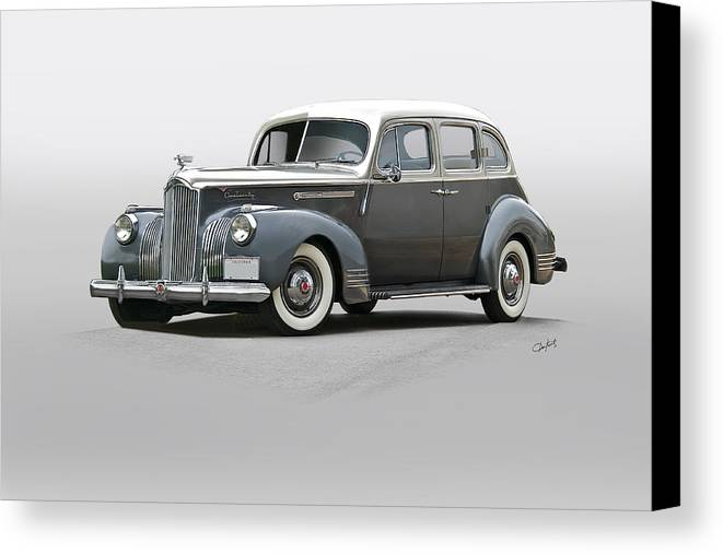 Auto Canvas Print featuring the photograph 1941 Packard 120 Sedan I by Dave Koontz