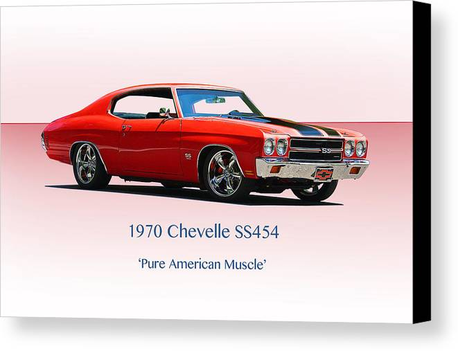 Auto Canvas Print featuring the photograph 1970 Chevelle Ss454 by Dave Koontz