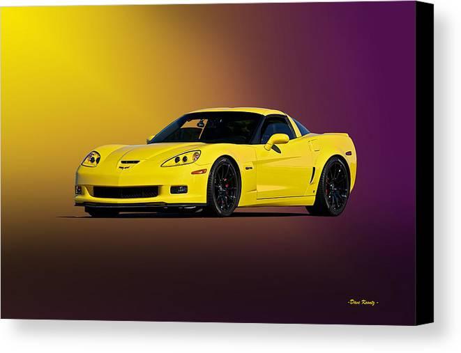 Auto Canvas Print featuring the photograph 2008 Corvette Z06 Coupe by Dave Koontz