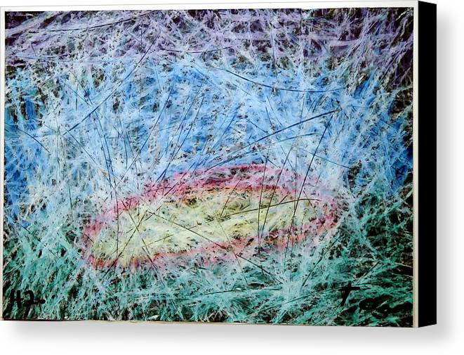 Canvas Print featuring the painting 41 by Terry Wiklund