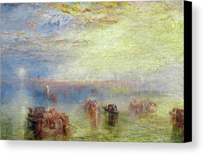 Joseph Mallord William Turner Canvas Print featuring the painting Approach To Venice by Joseph Mallord William Turner