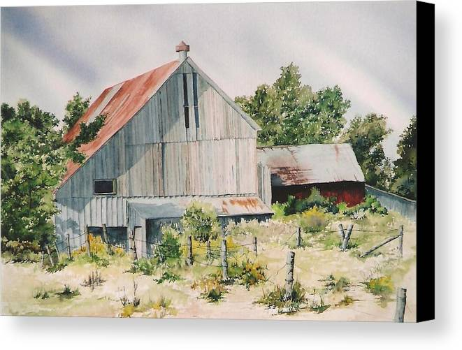 Barn Canvas Print featuring the painting August 2nd by Jackie Mueller-Jones