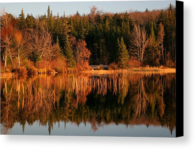 Adirondacks Canvas Print featuring the photograph Autumn Lake by Kate Leikin