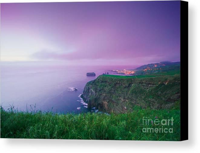 Azoren Canvas Print featuring the photograph Azores Coastal Landscape by Gaspar Avila