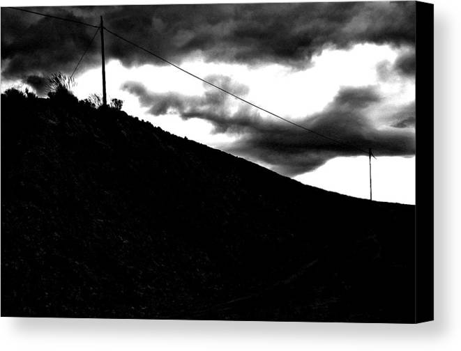 Photographer Canvas Print featuring the photograph Bad Skies by Jez C Self