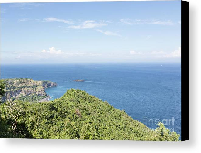 High Angle View Canvas Print featuring the photograph Bali North Coast by Didier Marti