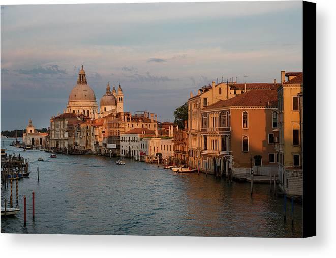 Venice Canvas Print featuring the photograph Basilica Di Santa Maria Della Salute, Venice, Italy by Bruce Beck