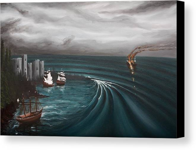 Surf Canvas Print featuring the painting Castaway by Ronnie Jackson
