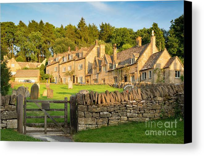 Barnabas Canvas Print featuring the photograph Cotswolds Evening by Brian Jannsen