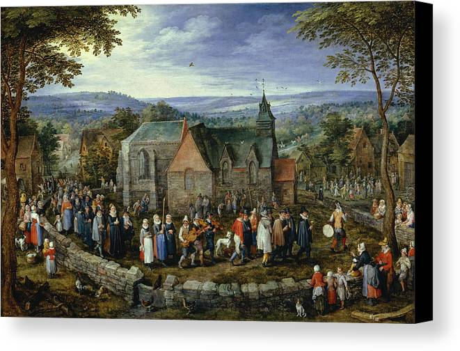 Animal Canvas Print featuring the painting Country Wedding by Jan Brueghel the Elder