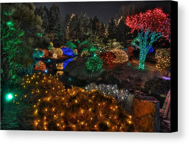 Denver Canvas Print Featuring The Digital Art Denver Botanic Gardens Of  Light By Tom Tobiassen
