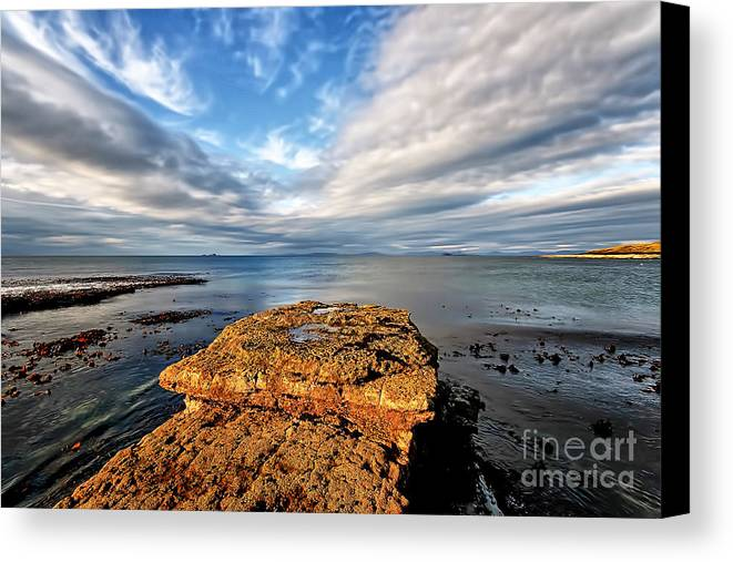 Duntulm Canvas Print featuring the photograph Duntulm by Smart Aviation