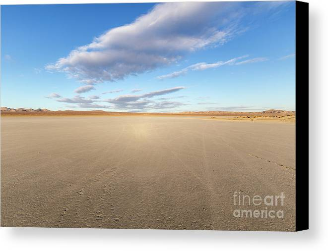 Desert Canvas Print featuring the photograph El Mirage Dry Lake Mojave by Trekkerimages Photography