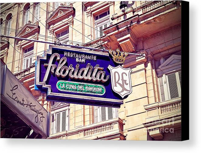Havana Canvas Print featuring the photograph Floridita - Havana Cuba by Chris Andruskiewicz