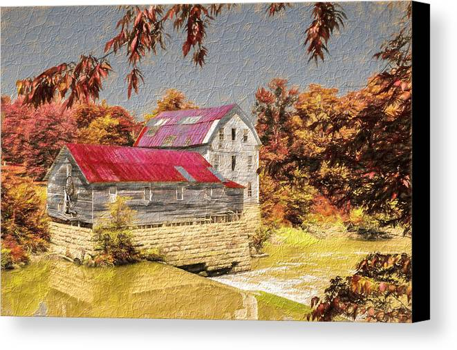 Green Family Canvas Print featuring the photograph Flour Mill by Charles Miller