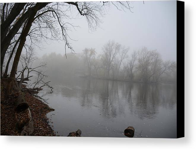 River Canvas Print featuring the photograph Foggy River by Brenda Zych