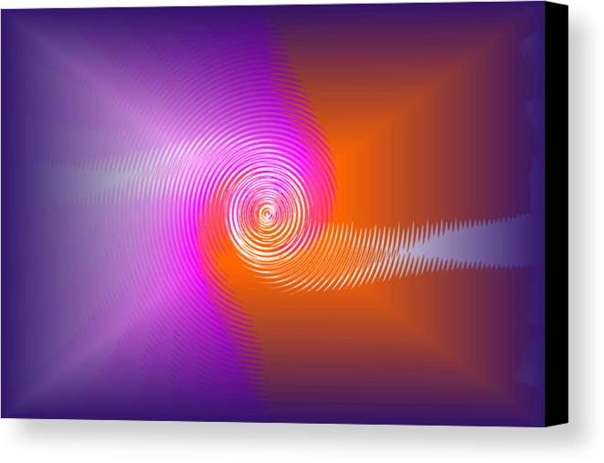Canvas Print featuring the digital art Fusion by Andreas R Wesener