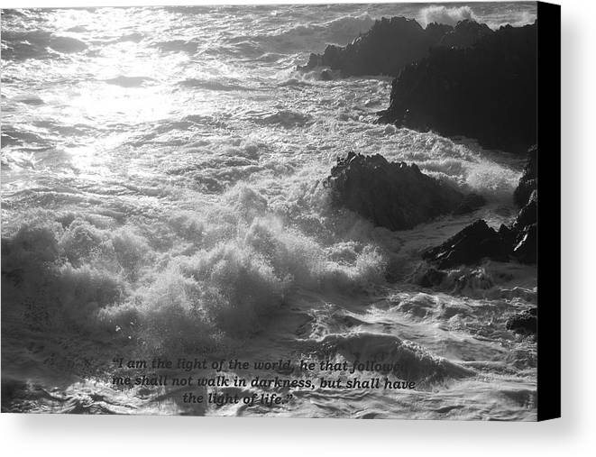 Seascape Canvas Print featuring the photograph I Am The Light by Graham Dixon