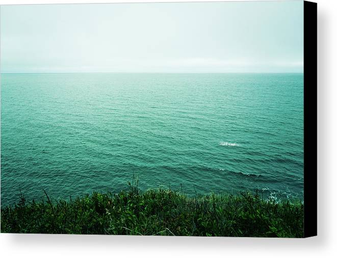 Canada Canvas Print featuring the photograph Infinite Sea by Olivia StClaire