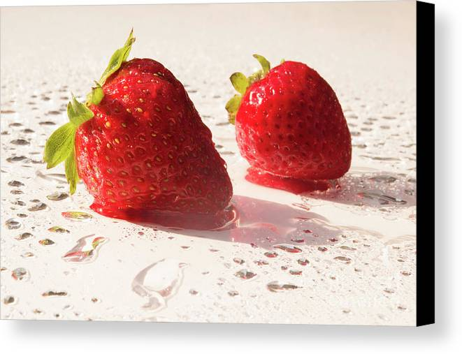 Juicy Canvas Print featuring the photograph Juicy Strawberries by Michelle Himes