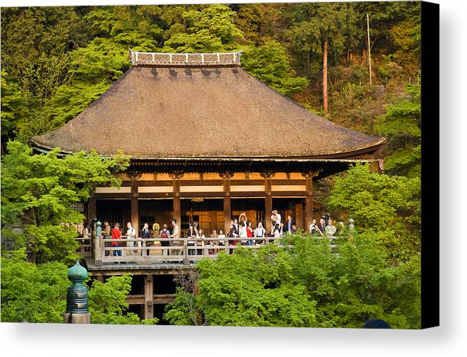 Pagoda Canvas Print featuring the photograph Kiyomizudera Temple by Sebastian Musial