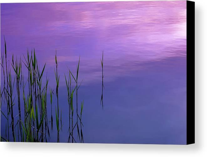 Canvas Print featuring the photograph Lake Illmensee by Silke Magino