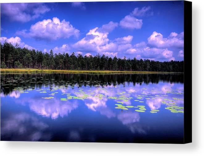 Nature Canvas Print featuring the photograph Lake Skaistes by Deividas Kavoliunas