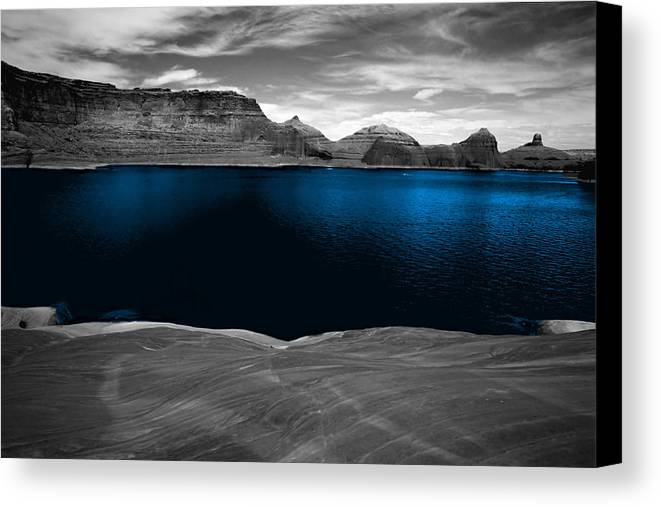 Photography Canvas Print featuring the photograph Liquid Blue by Tom Fant