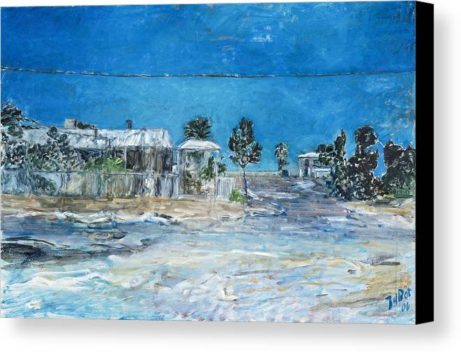 Australia Canvas Print featuring the painting Marree Village by Joan De Bot