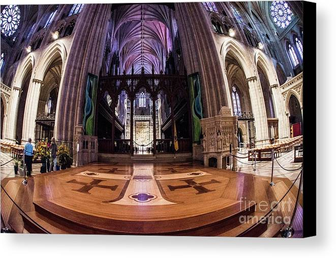 National Cathedral Canvas Print featuring the photograph National Cathedral - 2 by David Bearden