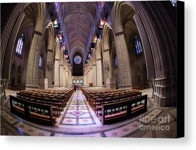 National Cathedral Canvas Print featuring the photograph National Cathedral - 3 by David Bearden