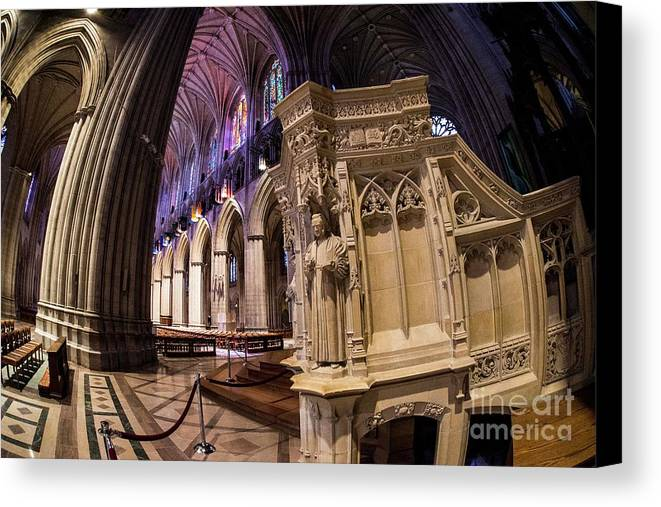 National Cathedral Canvas Print featuring the photograph National Cathedral by David Bearden