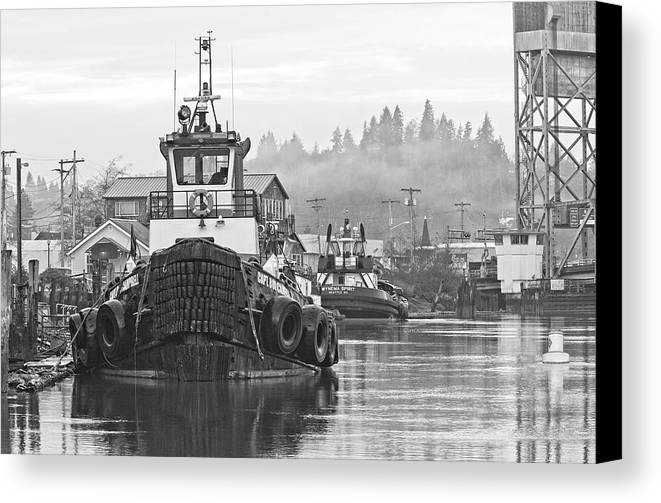 Barn Canvas Print featuring the photograph On The Waterfront by Bob Stevens