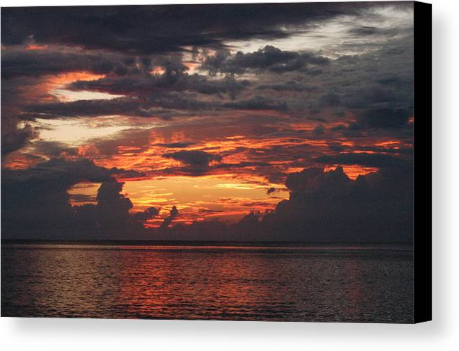 Sunrise Canvas Print featuring the photograph Painted Sky by Michael Vanatta