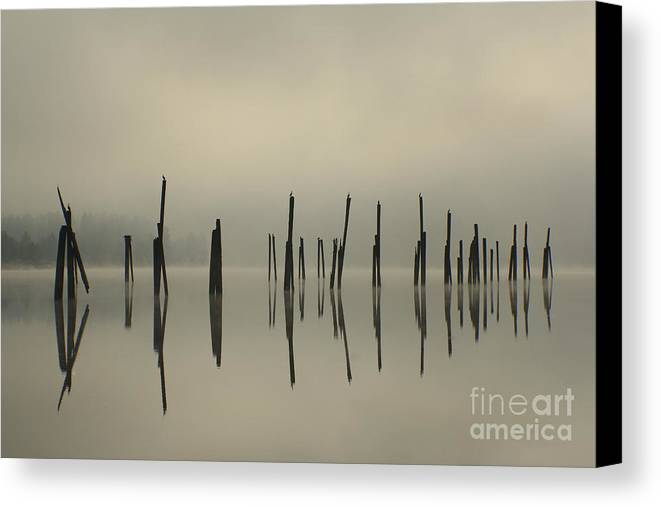 Tranquility Canvas Print featuring the photograph Pend Oreille Reflections by Idaho Scenic Images Linda Lantzy