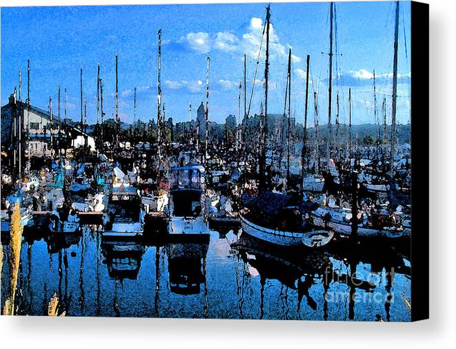 Capital Canvas Print featuring the photograph Percival Landing by Larry Keahey