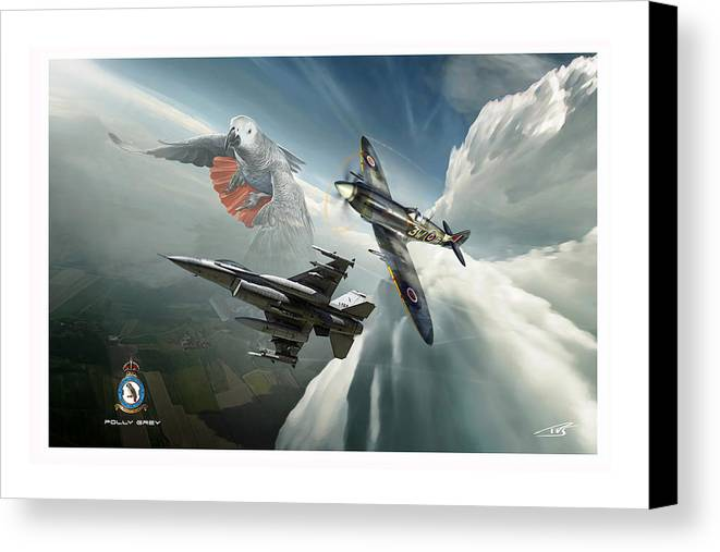 War Canvas Print featuring the digital art Polly Grey Two by Peter Van Stigt