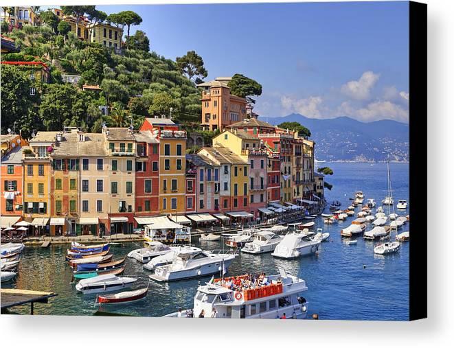 Portofino Canvas Print featuring the photograph Portofino by Joana Kruse