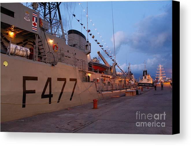 Frigates Canvas Print featuring the photograph Portuguese Navy Frigates by Gaspar Avila