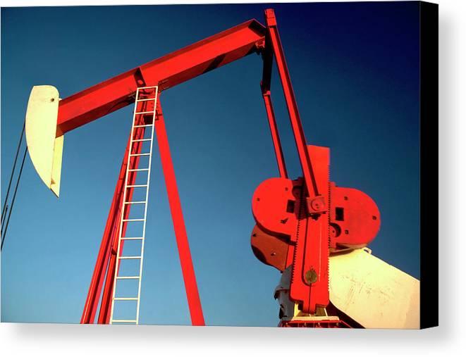 Oil Gas Industry Pump Jack Well Oilfield American America Blue Black  Production Platform Drilling Rig Geology