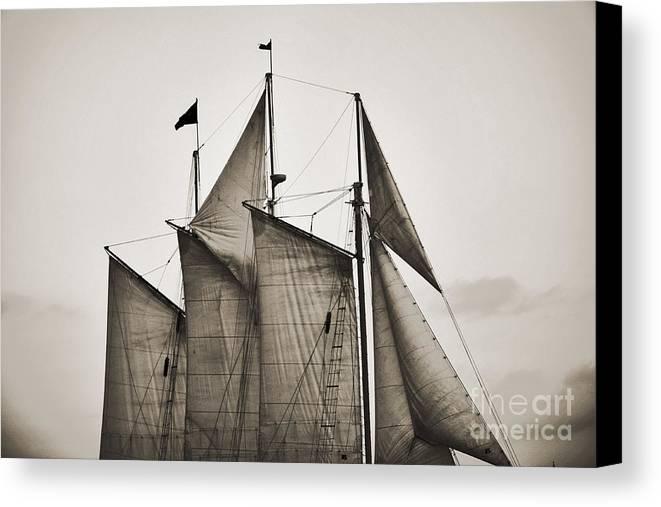 Tall Ship Canvas Print featuring the photograph Schooner Pride Tall Ship Charleston Sc by Dustin K Ryan