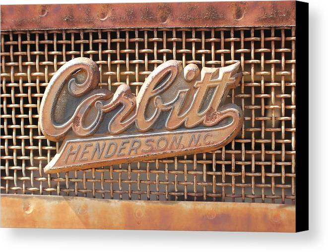 Automobile Canvas Print featuring the photograph Side Badge by Douglas Miller