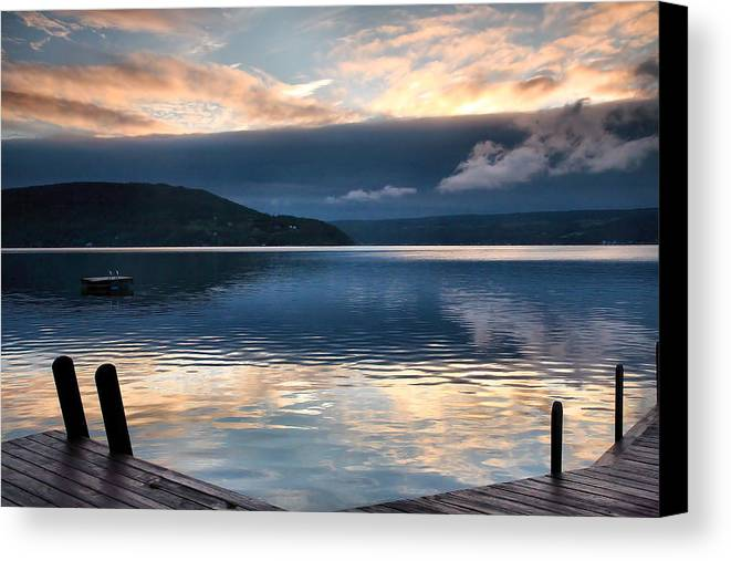 Keuka Lake Canvas Print featuring the photograph Storm Clearing by Steven Ainsworth
