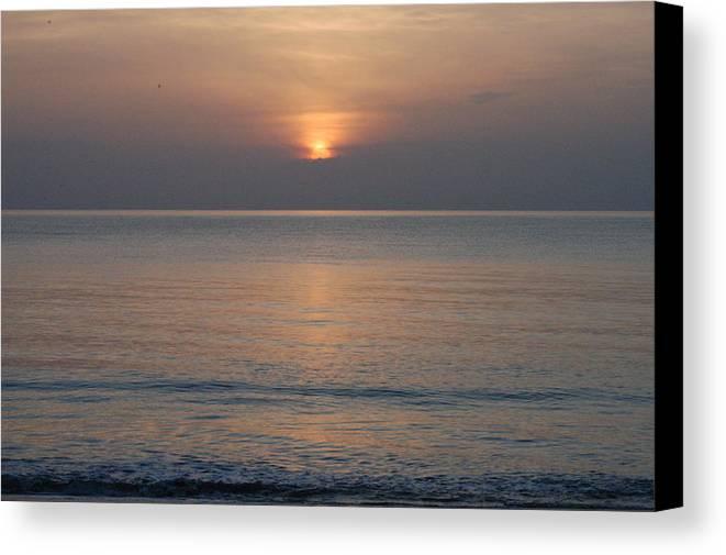 Sunrise Canvas Print featuring the photograph Sunrise In Vero Beach by Michael Vanatta
