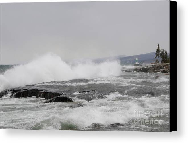 Lake Superior Canvas Print featuring the photograph Superior Shores by Sandra Updyke