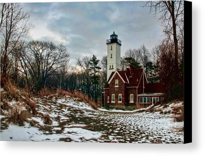 Lighthouse Canvas Print featuring the photograph The Lighthouse by Gaby Swanson